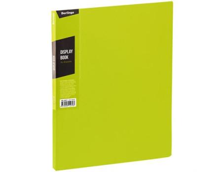 """Папка с 40 вкладышами Berlingo """"Color Zone"""", 21мм, 600мкм, салатовая"""