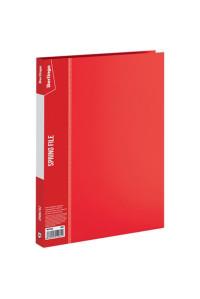 """Папка с пружинным скоросшивателем Berlingo """"Standard"""", 17мм, 700мкм, красная, MH2333"""