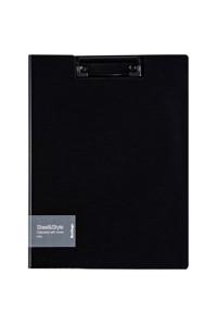 """Папка-планшет с зажимом Berlingo """"Steel&Style"""" A4, пластик (полифом), чёрная, PPf_93001"""
