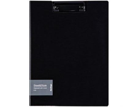 """Папка-планшет с зажимом Berlingo """"Steel&Style"""" A4, пластик (полифом), чёрная"""