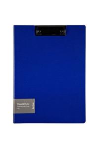 "Папка-планшет с зажимом Berlingo ""Steel&Style"" A4, пластик (полифом), синяя, PPf_93002"