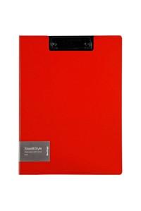 """Папка-планшет с зажимом Berlingo """"Steel&Style"""" A4, пластик (полифом), красная, PPf_93003"""