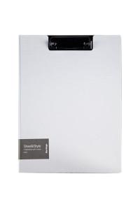 """Папка-планшет с зажимом Berlingo """"Steel&Style"""" A4, пластик (полифом), белая, PPf_93004"""