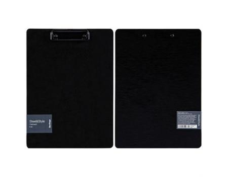 """Планшет с зажимом Berlingo """"Steel&Style"""" A4, пластик (полифом), черный"""