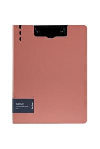 """Папка-планшет с зажимом Berlingo """"Instinct"""", A4, пластик (полифом), фламинго/чёрный, PPf_93201"""