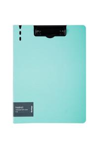 """Папка-планшет с зажимом Berlingo """"Instinct"""" A4, пластик (полифом), аквамарин/чёрный, PPf_93204"""