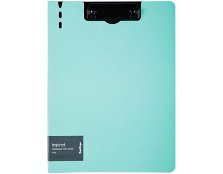 """Папка-планшет с зажимом Berlingo """"Instinct"""" A4, пластик (полифом), аквамарин/чёрный"""