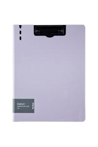 """Папка-планшет с зажимом Berlingo """"Instinct"""" A4, пластик (полифом), лаванда/чёрный, PPf_93203"""