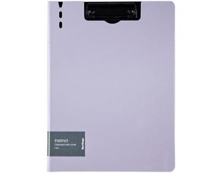 """Папка-планшет с зажимом Berlingo """"Instinct"""" A4, пластик (полифом), лаванда/чёрный"""