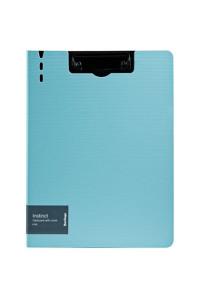 """Папка-планшет с зажимом Berlingo """"Instinct"""" A4, пластик (полифом), мятный/чёрный, PPf_93202"""