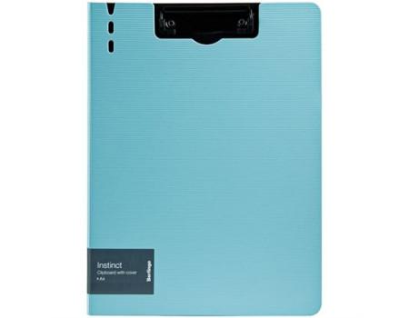 """Папка-планшет с зажимом Berlingo """"Instinct"""" A4, пластик (полифом), мятный/чёрный"""