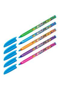 """Ручка шариковая Berlingo """"Triangle 100T Elements"""", синяя, 0,7мм, трехгран., игольчатый стержень, CBp_07250"""