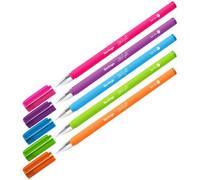 """Ручка шариковая Berlingo """"Starlight"""", синяя, 0,7мм, игольчатый стержень,прорезиненный корпус ассорти, CBp_07250"""