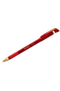 """Ручка шариковая Berlingo """"xGold"""" красная, 0,7мм, игольчатый стержень, грип, CBp_07502"""