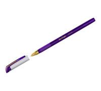 """Ручка шариковая Berlingo """"xGold"""" фиолетовая, 0,7мм, игольчатый стержень, грип, CBp_07504"""