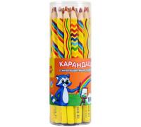 """Карандаш с многоцветным грифелем Мульти-Пульти """"Енот и радуга"""", утолщенный, заточен., CP_11659"""