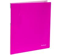 """Папка с 20 вкладышами Berlingo """"Neon"""", 14мм, 700мкм, неоновая розовая"""