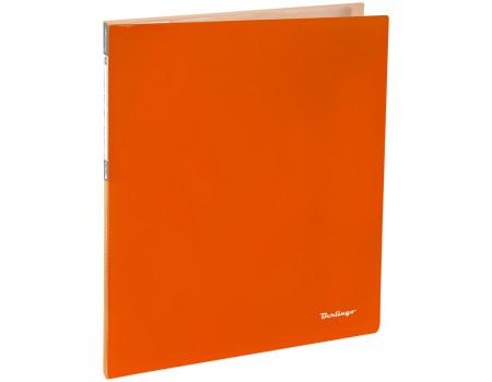 """Папка с 20 вкладышами Berlingo """"Neon"""", 14мм, 700мкм, неоновая оранжевая"""