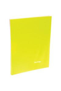 """Папка с 20 вкладышами Berlingo """"Neon"""", 14мм, 700мкм, неоновая жёлтая,AVp_20803"""